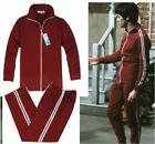 Bruce Lee Cotton Costume Classic Longstreet Red Kung Fu Suits Tracksuit Uniform@