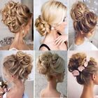 Real Natural Curly Messy Bun Hair Piece Scrunchie Hair Extensions as Human Thick