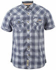 New Mens Tokyo Laundry Barroso Checked Short Sleeve Button Shirt Top Size S