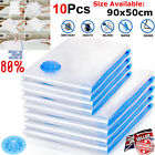 10x Strong Vacuum Storage Bags VAC Space Saving Compressed Bag Vacuum Pack Saver