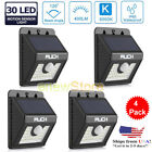 4X30LED Solar Sensor Power MotionSensor Wall Mount Light Outdoor Waterproof Lamp