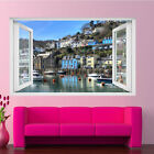 Coast Town Looe Cornwall Wall Stickers 3d Art Mural Decal Home Office Decor Sh2