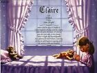 """""""Girl Praying"""" Personalized Name Meaning Birthday Wall Print"""