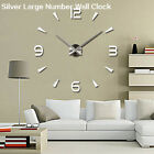 EP_ 3D DIY Wall Clock Fashion Mirror Sticker Living Room Home Modern Decor Utili