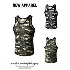Hot Mens Camouflage Sport Tank Top Gym Fitness Singlet Sleeveless Muscle Vest XN