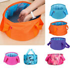 EP  HK- Foldable Water Wash Bag Bucket Pot Sink Basin for Camping Hiking Outdoor