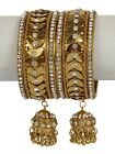 Awesome Traditional Indian Bollywood Style Antique Gold Plated Polki Bangle