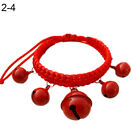 EP_ Fashion Adjustable Nylon Dog Puppy Big Bells Collar Necklace Pet Supply Rapt