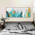 YA#741 Large Hand-painted Abstract oil painting Impression city Modern Decor art
