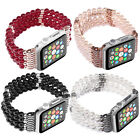 PASBUY 52C Bling Agate Beads Strap Bracelet Band for Apple Watch Series 4 3 2 1 image