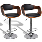 Adjustable Swivel Bar Stool Chairs Leather with Backrest Rurniture Easy Assembly