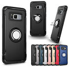 Ring Holder Shockproof Rubber Armor Stand Case Cover For Samsung Galaxy S7 Edge