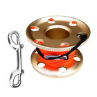Scuba Diving Snorkel Aluminum Alloy Finger Spool Reel Line Attach Gear Equipment