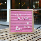 """Felt Letter Board with 340 Letters, 10x10"""" Changeable Wooden Message Board Sign"""