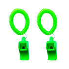 2Pcs Survival Safety Whistles With Wrist Coil Scuba Diving Boating Camping Kayak
