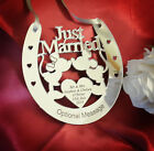 Personalised Wedding Bridal Mr & Mrs Good Luck Horseshoe Gift & Lucky Keepsake