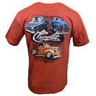 Chevy Mens Tee T Shirt SS Trucks Racing Logo Vintage American Muscle Car USA NEW image