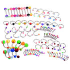 105pcs Wholesale Lip Tongue Eyebrow Nose Studs Navel Belly Rings Body Piercing