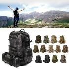 60L Military Tactical Molle Backpack Bag Pouch Camping Hiking Trekking Outdoor~~
