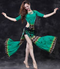 Brand New 2018 Women Back Off Belly Dance Costume Long Dress Printed w Shorts