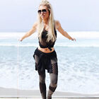 Womens Sports Gym Yoga Leggings Running Mesh Pants Fitness Stretchy Trousers New