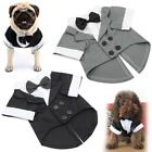 Tuxedo Pet Dog Clothes Bow Tie Suit Clothing Puppy Wedding Party Jacket Coat for