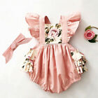 Внешний вид - Toddler Newborn Baby Girl Romper Jumpsuit Bodysuit Clothes Headband Outfit Sets