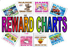 A4 Personalised Wipeclean Behaviour Character Sticker Reward Charts For Children