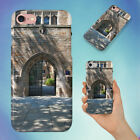 STEEL GATE OF BROWN BRICK BUILDING HARD BACK CASE FOR APPLE IPHONE PHONE