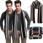 New Fashion Men's Warm Stipe Knit Long Scarf Scarves Stole Soft Chirstmas Gift