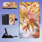 AUTUMN COLOURS LEAVES BEAUTIFUL FLIP WALLET CASE FOR APPLE IPHONE PHONES