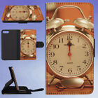 ALARM CLOCK ANALOGUE ANTIQUE CLASSIC FLIP WALLET CASE FOR APPLE IPHONE PHONES