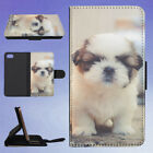 DOG TOUGH SMALL PUPPY SHIH TZU FLIP WALLET CASE FOR APPLE IPHONE PHONES