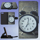 ACCURATE ALARM ALARM CLOCK ANALOGUE FLIP WALLET CASE FOR APPLE IPHONE PHONES