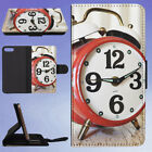 ALARM ALARM CLOCK ANALOG ANALOGUE FLIP WALLET CASE FOR APPLE IPHONE PHONES