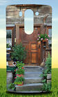 BROWN WOODEN DOOR NEAR GREEN PLANT HARD BACK CASE COVER FOR LG PHONES
