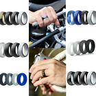 4pcs Colors Unisex Silicone Ring Flexible Rubber Wedding Band Men Women Gifts