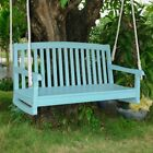 International Caravan Chelsea 4 ft. Painted Acacia Porch Swing with Curved Back