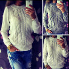 USA Seller Women Long Sleeve Loose Sweater Knitted Cardigan Coat Jacket Outwear
