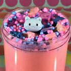"""Thicc """"KITTY KINGDOM"""" Pink Slime Foam Beads Chunks Cat Charm Scented 4 6 8 oz"""