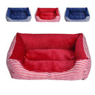 New Dog Luxury sofa Doghouse Stripe Bed Puppy Pets Cat Cushion Kennel blanket
