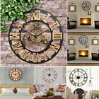 Outdoor Vintage Wooden Wall Clock Rustic Home Antique Watches 30/40/58/60/80cm J