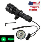 6000LM C8 White Red Green Light LED Hog Night Hunt Flashlight Rifle Scope Mount