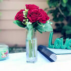 Velvet Red Rose Flower Bouquet 7 pieces for Home Wedding Decoration