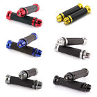 "RUBBER GEL HAND GRIPS UNIVERSAL 7/8"" MOTORCYCLE HANDLEBAR BAR END CAP PLUG Black $9.5 USD on eBay"