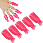10Pcs Plastic Acrylic Nail Art Soak Off Cap Clip UV Gel Polish Remover Wrap Tool