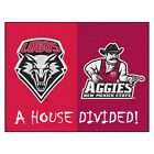 NCAA Team House Divided Mat Area Rug - Choose Your College Team