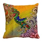 Ethnic Parrort Digitally Printed Cushion Cover Throw Waist Pillow Home Décor