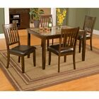 Alpine Furniture Capitola Faux Marble 5 Piece Dining Table S