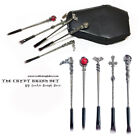 The Crypt Makeup Brushes & Handmade Coffin Case - Goth makeup Skull Brushes